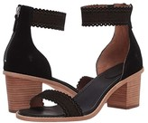 Frye Brielle Scallop Back Zip (Black Suede) Women's Shoes