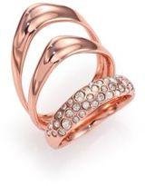 Alexis Bittar Miss Havisham Liquid Crystal Triple-Band Ring/Rose Goldtone