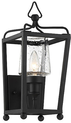 Crystorama Sylvan Outdoor Sconce - Black Forged