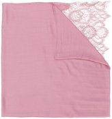 Valentino Garavani lace-paneled plissé scarf