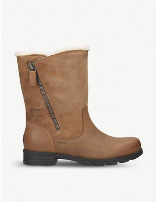 Sorel Emelie foldover suede boots