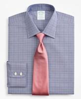 Brooks Brothers Stretch Milano Slim-Fit Dress Shirt, Non-Iron Royal Oxford Ainsley Collar Glen Plaid