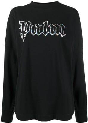 Palm Angels Holographic Logo Sweatshirt