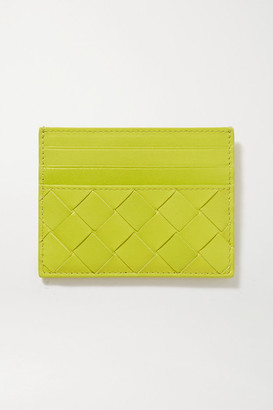 Bottega Veneta Intrecciato Leather Cardholder - Green