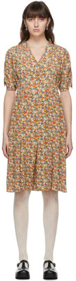 Gucci Multicolor Liberty London Edition Silk Garden Print Dress