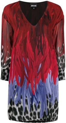 Just Cavalli animal-print V-neck shift dress
