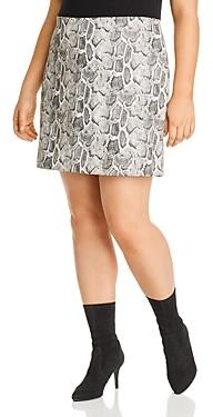 Aqua Curve Faux Snakeskin Mini Skirt - 100% Exclusive