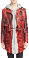 Moschino Women's Print Leather Moto Jacket