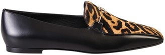 Burberry Leopard Print Loafers