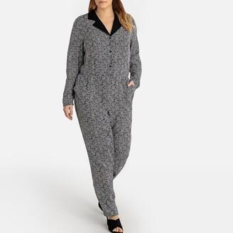 Castaluna Plus Size Tailored Graphic Printed Jumpsuit