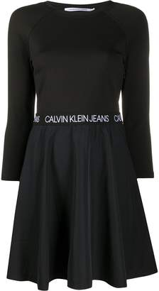 Calvin Klein Jeans long-sleeve shift mini dress