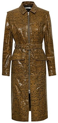 Gestuz Collette Python Embossed Trench Dress