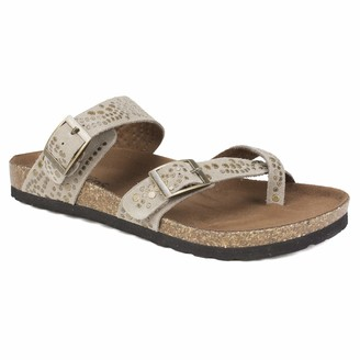 White Mountain Shoes Graham Women's Sandal LT Taupe/Suede 6 M