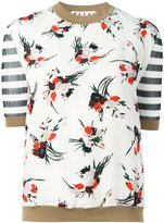 Marni striped floral print top