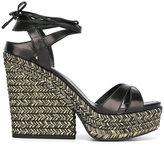 Sergio Rossi 'Bilbao' sandals - women - Raffia/Leather/rubber - 37