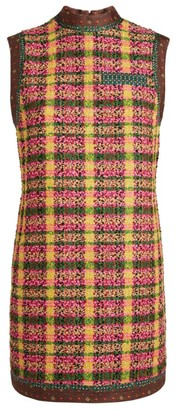 Gucci Sleeveless Tweed Mini Dress