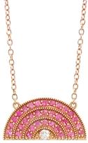 Andrea Fohrman Pink Sapphire Rainbow Pendant Necklace