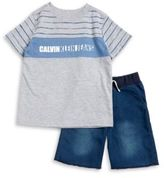 Calvin Klein Jeans Little Boys Logo Tee and Shorts Set