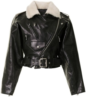 R 13 Motorcycle Leather Jacket