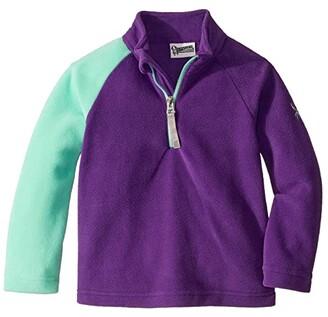 Spyder Bitsy Speed Fleece Zip T-Neck (Toddler/Little Kids) (Majesty) Girl's Clothing