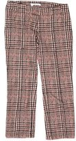 Derek Lam 10 Crosby Cropped Houndstooth Pants