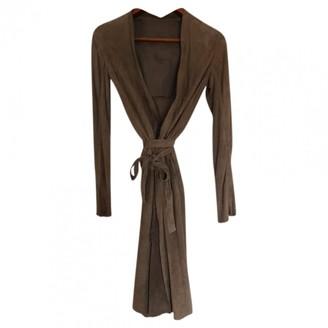 Rick Owens Camel Suede Coat for Women