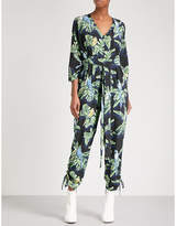 Stella McCartney Paradise V-neck silk-crepe jumpsuit