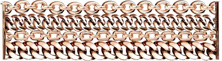 Ralph Lauren Rose Gold 4-Chain Bracelet