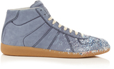 Maison Margiela Replica high-top paint-effect leather trainers