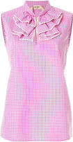 No.21 gingham ruffle blouse