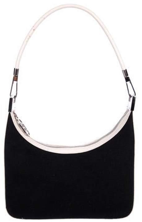 b01492ad Woven Shoulder Bag Black Woven Shoulder Bag