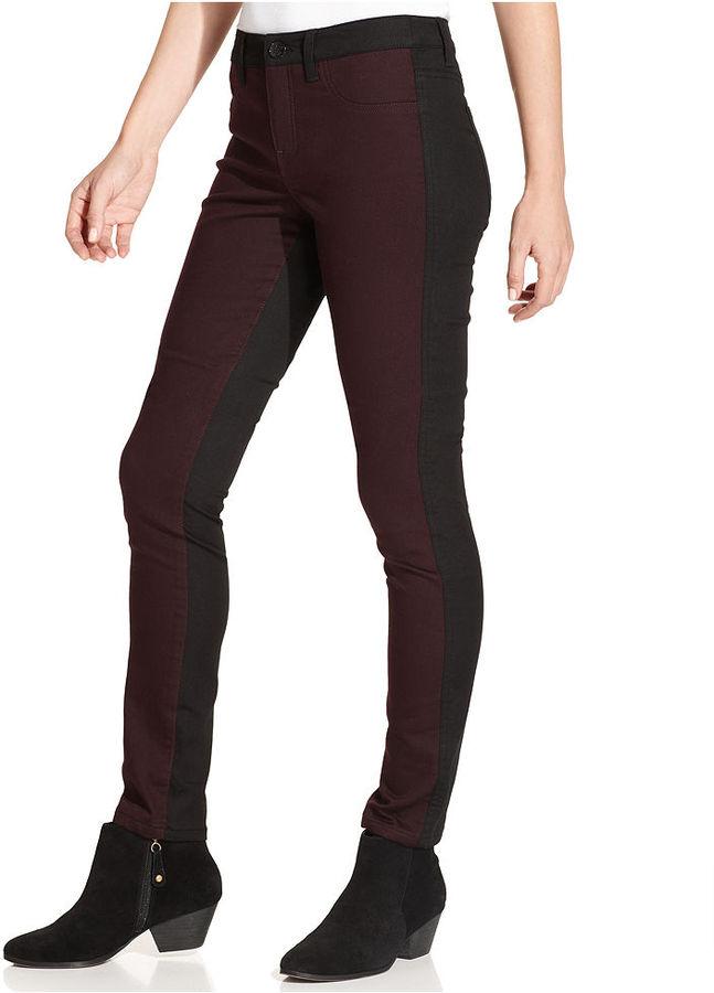 Style&Co. Pants, Skinny-Leg Tummy-Control Two-Tone