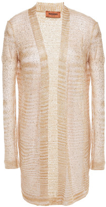 Missoni Sequin-embellished Crochet-knit Cardigan