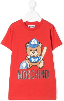 MOSCHINO BAMBINO baseball teddybear T-shirt