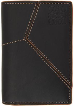 Loewe Black Bifold Puzzle Stitches Card Holder