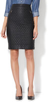 New York & Co. Quilted Faux-Leather Pencil Skirt
