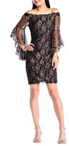 Adrianna Papell Metallic Lace Off-the-Shoulder Dress