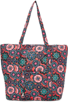 Tricoastal Design Pink Floral Medallion Quilted Tote