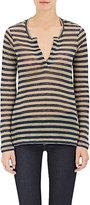 Barneys New York Women's Striped Linen Long-Sleeve Shirt