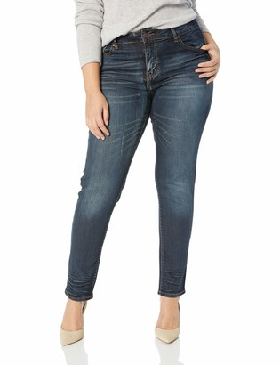 Cover Girl Women's Plus Size Dark Skinny Jeans Low Rise Butt Shaping Midnight Blue 20