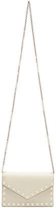 Valentino Off-White Garavani Rockstud Envelope Shoulder Bag