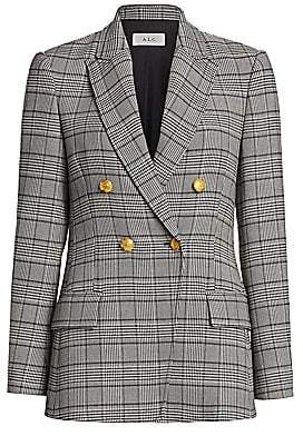 A.L.C. Women's Sedgwick II Glen Check & Houndstooth Double-Breasted Jacket - Size 0
