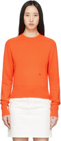 Victoria Beckham Orange Cashmere Cropped Sweater