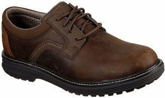 Skechers Men's Round Toe Lace Up Oxford