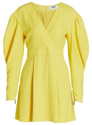 MSGM Long Puff Sleeve Dress