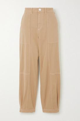 See by Chloe Cotton-blend Gabardine Pants - Pastel yellow