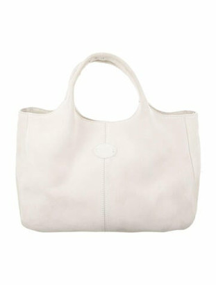 Tod's Suede Tote Bag White