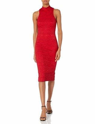 Dress the Population Women's Norah High Neck Lace Dress