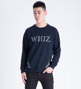 Whiz Navy Reflect Crewneck Sweater