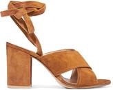 Gianvito Rossi Suede Sandals - Tan
